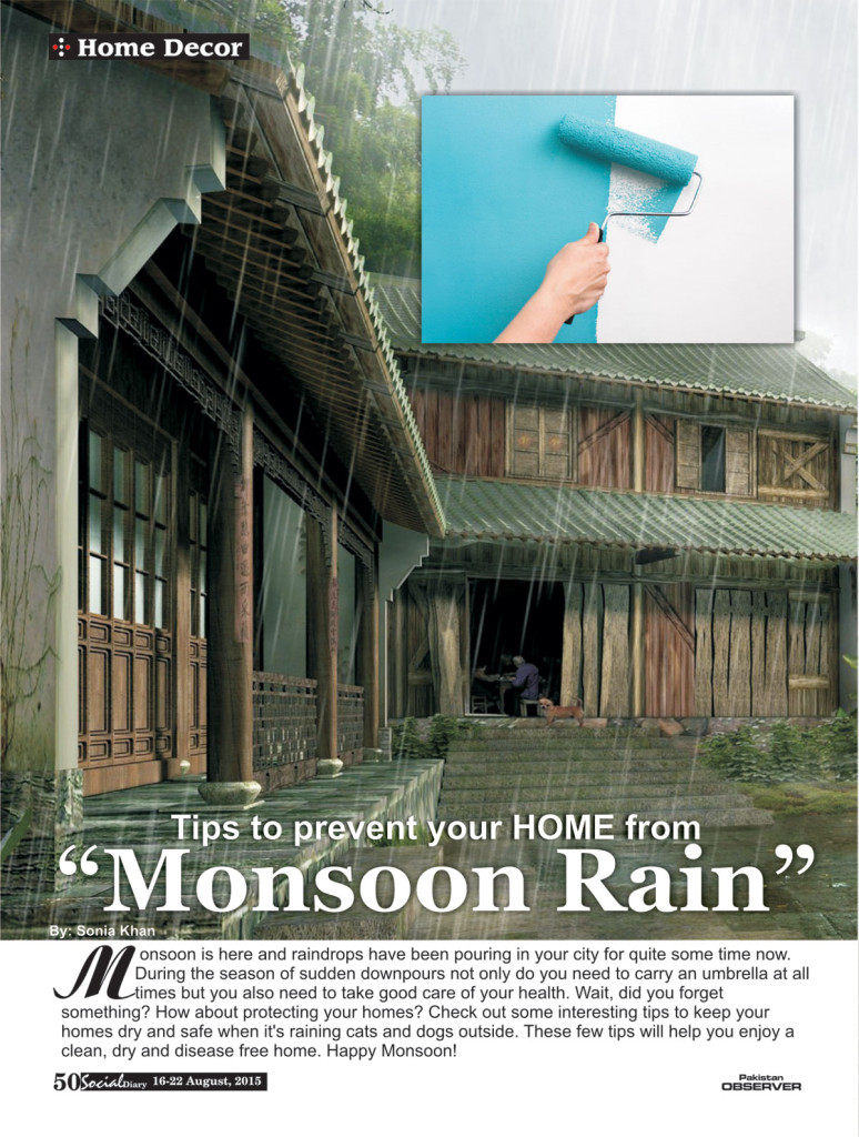 Tips to prevent homes from Monsoon Rain Social Diary
