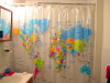 World map shower curtain…
