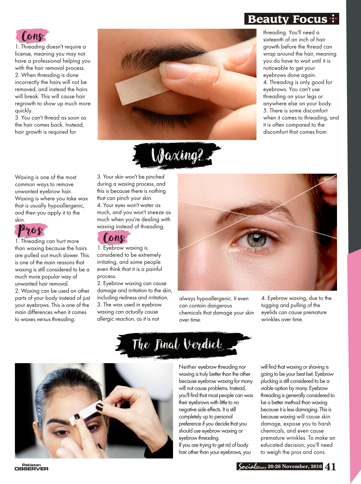 Eyebrow Threading Or Waxing Take The Decision Social Diary