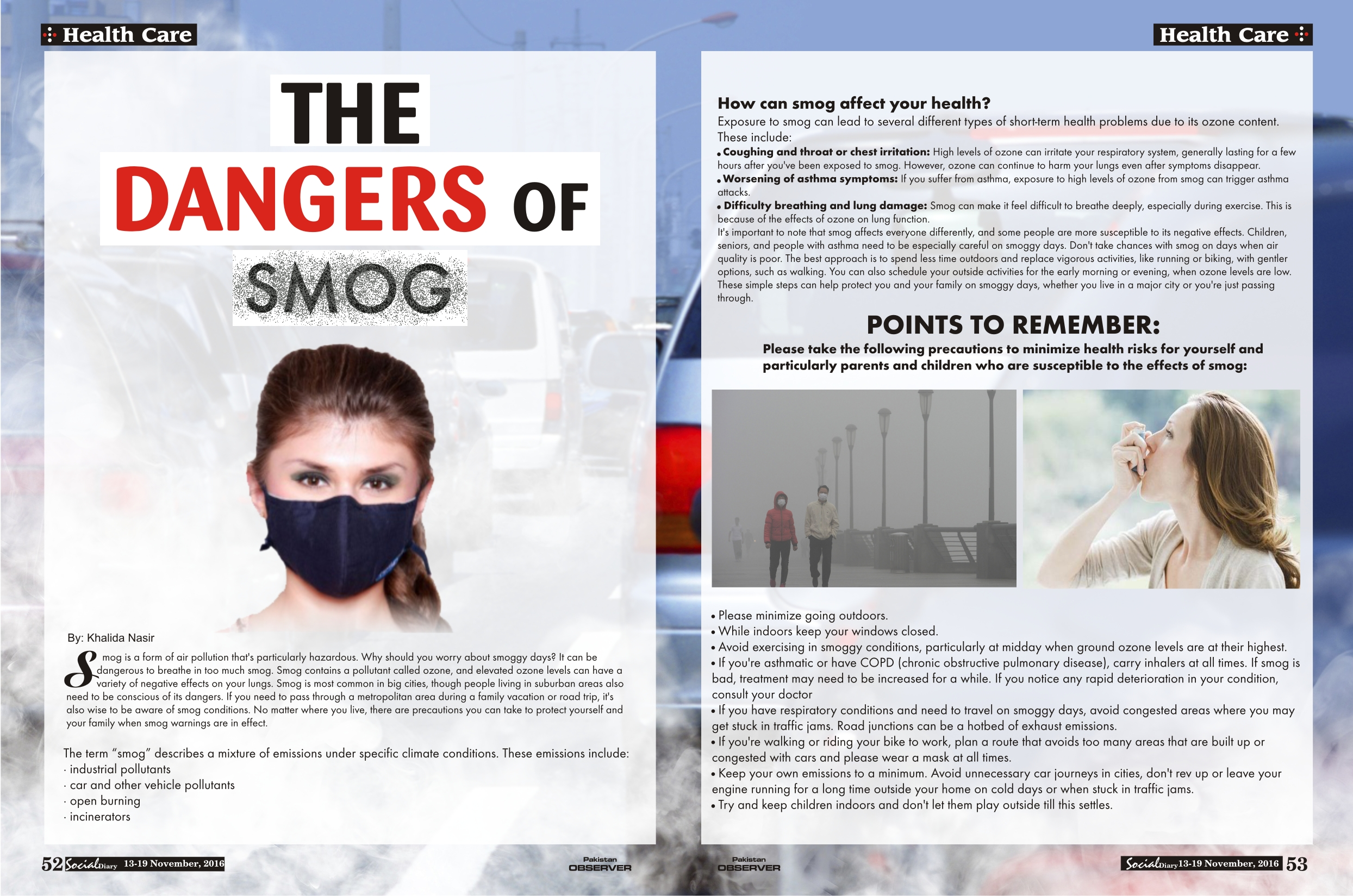 the health effects of smog to a person Causes and effects of smog: what is smog smog is basically many people deaths were recorded, notably those relating to bronchial diseases.