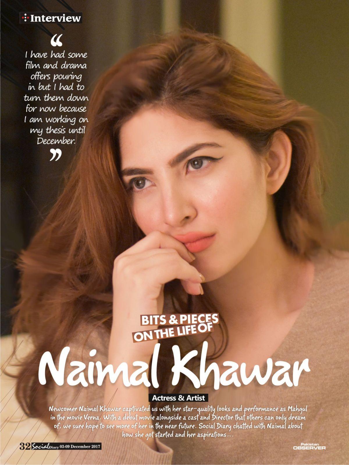 Bits and Pieces on the life of Naimal Khawar | Social Diary