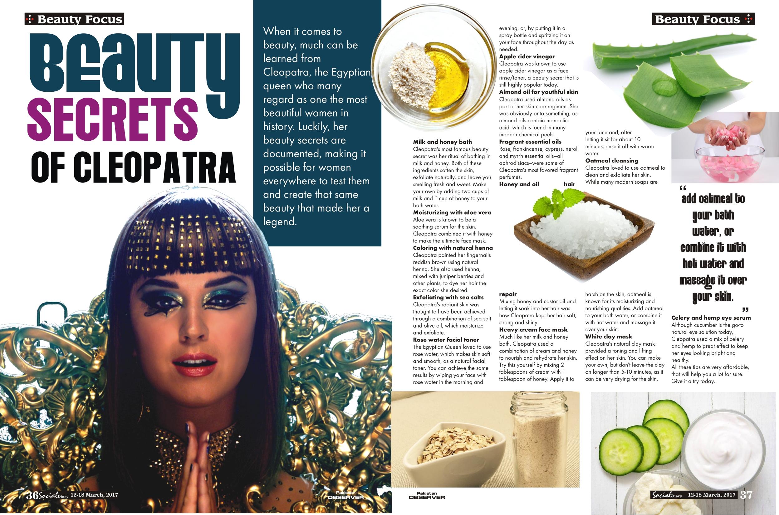 Beauty Secrets of Cleopatra  Social Diary