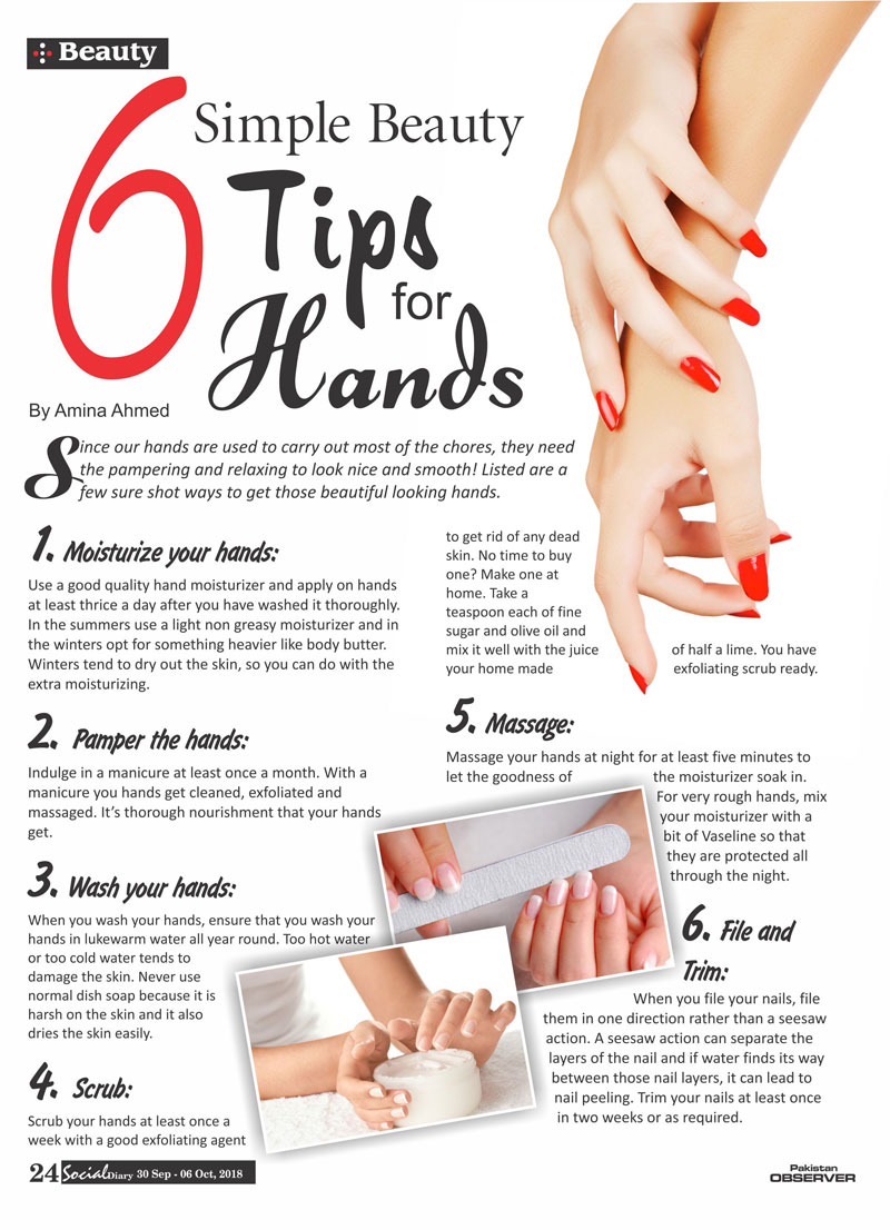 9 Simple Beauty Tips For Hands  Social Diary
